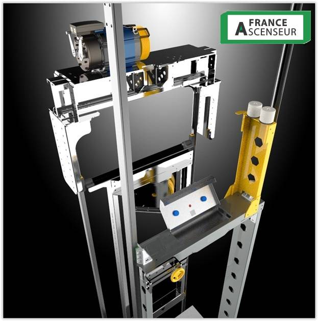 Etrier, arcade et suspension cabine ascenseur sur mesure